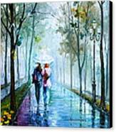 Foggy Day New Canvas Print by Leonid Afremov