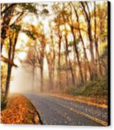 Foggy Fall Wonderland - Blue Ridge Parkway I Canvas Print by Dan Carmichael