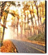 Foggy Fall Wonderland - Blue Ridge Parkway II Canvas Print