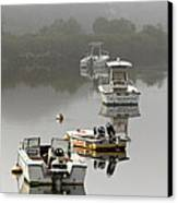 Foggy Moorings Canvas Print
