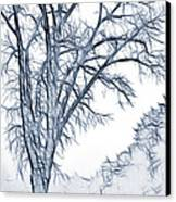 Foggy Morning Landscape - Fractalius 2 Canvas Print