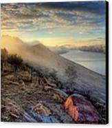 Foggy Morning Sunrise Canvas Print by Steve Barge