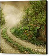 Foggy Road Canvas Print by Boon Mee