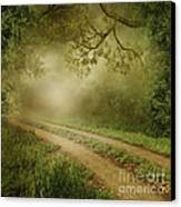 Foggy Road Photo Canvas Print by Boon Mee