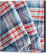 Folded Fabric Canvas Print by Tom Gowanlock