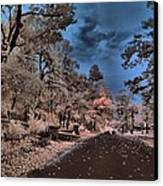 Follow The Infrared Road Canvas Print by Thomas  MacPherson Jr
