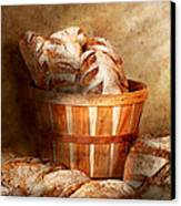 Food - Bread - Your Daily Bread Canvas Print by Mike Savad