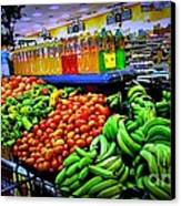 Food Market Canvas Print by Denisse Del Mar Guevara