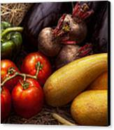 Food - Vegetables - Peppers Tomatoes Squash And Some Turnips Canvas Print by Mike Savad