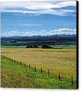 Foothills Of The Rockies Canvas Print by Terry Reynoldson