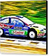 Ford Focus Wrc Canvas Print by motography aka Phil Clark