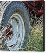 Ford Tractor Tire Canvas Print by Jennifer Ancker