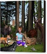 Forest Rendezvous Canvas Print by Jennifer Schwab