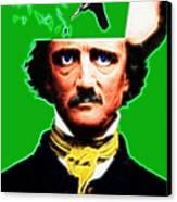 Forevermore - Edgar Allan Poe - Green Canvas Print
