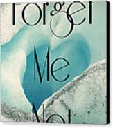 Forget Me Not Canvas Print by Jennifer Kimberly