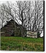 Forgotten Barn Canvas Print by Sarah E Kohara