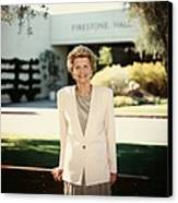 Former First Lady Betty Ford Posing Canvas Print