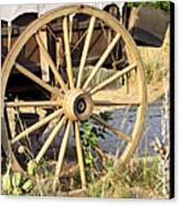 Fort Laramie Wy - Moving West On Wagon Wheels Canvas Print by Christine Till
