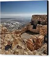 Fortress Of Masada Israel 1 Canvas Print by Mark Fuller