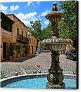 Fountain At Tlaquepaque Arts And Crafts Village Sedona Arizona Canvas Print by Amy Cicconi