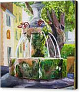 Fountain In Provence Canvas Print