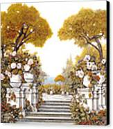 four seasons-autumn on lake Maggiore Canvas Print by Guido Borelli