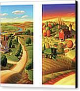 Four Seasons On The Farm Canvas Print by Robin Moline