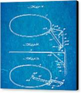 Fox Foldable Basketball Goal Patent Art 1952 Blueprint Canvas Print by Ian Monk