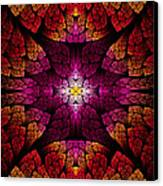 Fractal - Aztec - The All Seeing Eye Canvas Print by Mike Savad