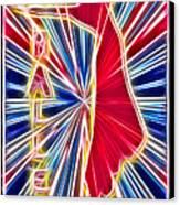 Fractal Ballet Canvas Print