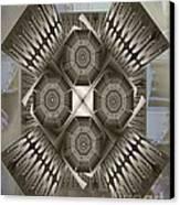 Fractal Design Number Nine Canvas Print by Doris Wood