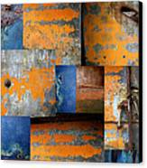 Fragments Antique Metal Canvas Print by Ann Powell