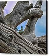 Framed Lighthouse Canvas Print by Robert Bales