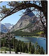 Framed Peaks Canvas Print by Carolyn Ardolino