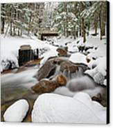 Franconia Notch State Park - White Mountains New Hampshire Usa - Flume Gorge Canvas Print by Erin Paul Donovan