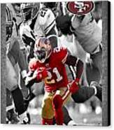 Frank Gore 49ers Canvas Print by Joe Hamilton