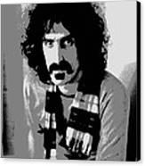 Frank Zappa - Chalk And Charcoal 2 Canvas Print by Joann Vitali