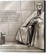 Franklin Delano Roosevelt Memorial - Bits And Pieces 7 Canvas Print