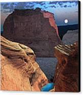 Free Climbing Glen Canyon Canvas Print by Ric Soulen