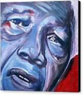 Freedom - Nelson Mandela Canvas Print by Fiona Jack