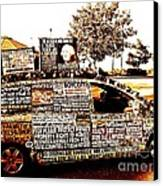 Freedom Of Speech On Wheels Canvas Print by Desiree Paquette