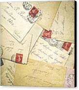 French Correspondence From Ww1 #1 Canvas Print by Jan Bickerton