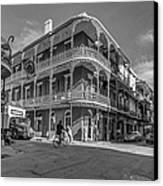 French Quarter Afternoon Bw Canvas Print by Steve Harrington
