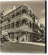 French Quarter Afternoon Sepia Canvas Print by Steve Harrington