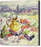 French Table Canvas Print by Elizabeth Jane Lloyd