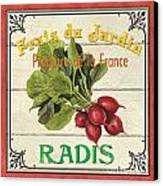 French Vegetable Sign 1 Canvas Print by Debbie DeWitt