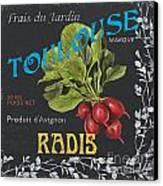 French Veggie Labels 3 Canvas Print by Debbie DeWitt
