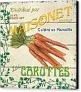 French Veggie Sign 2 Canvas Print
