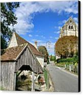 French Village Road Canvas Print by Olivier Le Queinec