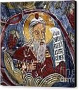 Fresco At The Sumela Monastery Turkey Canvas Print by Robert Preston